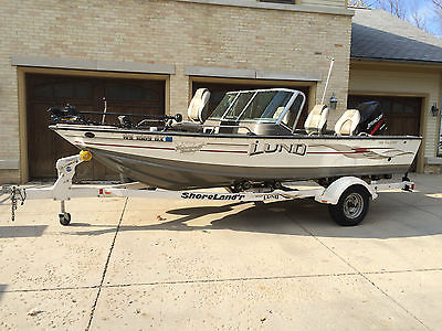 2006 LUND 1800 PRO- V IPS Tournament Walleye Boat - 150 HP Optimax LOW HOURS