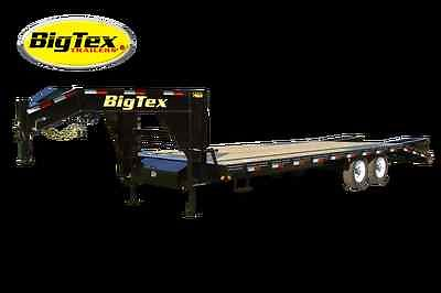 2015 Big Tex Trailer 14GN-20' + 5' Gooseneck Flatbed Equipment Trailer, 0