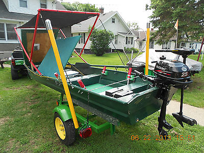 Custom 14 Foot Backwaters Fishing Hunting Boat Motor Trailer 2013 Suzuki 4 Cycle