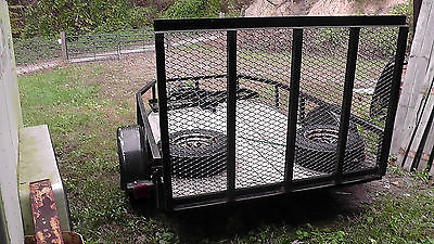 Utility Flatbed Trailer w/Wood Deck & Ramp 6' X 10' bed - $300 New Tires & Rims