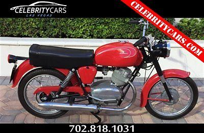 Moto Guzzi : 125 Stornello Cafe' Racer 1960 moto guzzi stornello 125 fully restored single cylinder 4 stroke 4 speed