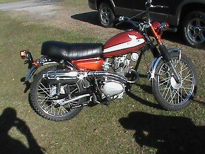 Honda : CL 1971 honda cl 100 scrambler