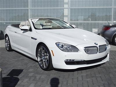 BMW : 6-Series 650i 2012 bmw 650 i luxury seating pkg cold weather pkg premium sound pkg