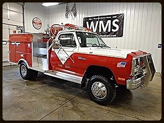 Dodge : Ram 3500 1 Ton Dually 92 red fire truck brush buggy low miles clean complete v 8 power engine white wms