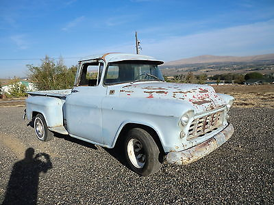 Chevrolet : C-10 Step Side 3200 1957 chevy pickup barn find step side truck 3200 3100 stepside patina shop truck