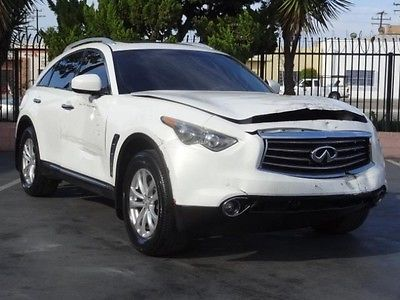 Infiniti : FX 35 AWD 2012 infiniti fx 35 awd damaged salvage repairable project wrecked fixable save