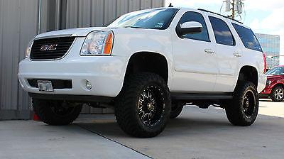 GMC : Yukon SLE 2007 gmc yukon sle 1500 4 x 4 summit white 6.5 zone lift 20 rbp wheels 35 tires