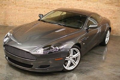 Aston Martin : DB9 Coupe 5 k miles meteorite silver exterior over obsidian black interior 178 420 msrp
