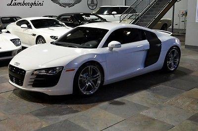 Audi : R8 4.2L 2012 audi r 8 4.2 l r tronic ibis white carbon fiber loaded
