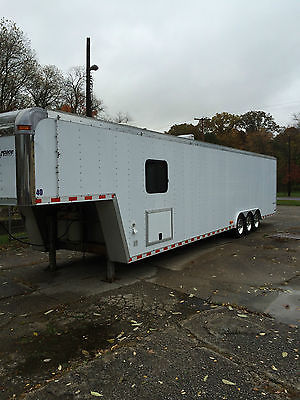 Pace 40' gooseneck car or vending trailer w/ living quarters and 38x15 awning