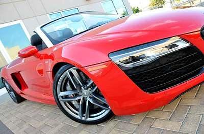Audi : R8 SUPER LOADED SPYDER MSRP $195k CERAMIC BRAKES 2014 audi r 8 v 10 5.2 l fsi quattro s tronic spyder ceramic brakes carboninlays nr