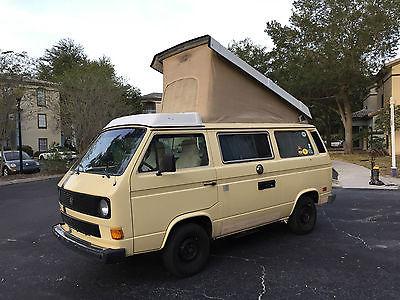 Volkswagen : Bus/Vanagon Westfalia 1984 volkswagen vw vanagon westfalia camper van campmobile rv water cooled 1.9 l