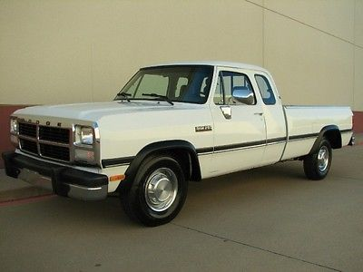 Dodge : Ram 2500 Cummins 1992 dodge d 250 extended cab le cummins 12 valve turbo diesel 38 k actual miles