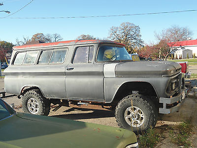 GMC : Suburban SUBURBAN LIFTED SINSTER 1962 GMC SUBURBAN RAT ROD 4 WHEEL DRIVE WITH 454 FUEL INJECTION