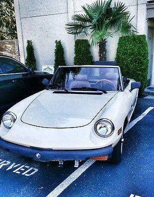 Alfa Romeo : Spider Veloce 1982 alfa romeo spider veloce rare english cream