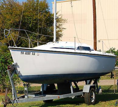 Hunter 23 sailboat 1987 w/ trailer