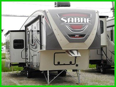 2015 Palomino Sabre 34ckqs New FIFTH WHEEL CENTER KITCHEN SHOWER TUB QUEEN RV
