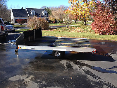 2004 Rance aluminum Trailrider 2 place tilt snowmobile trailer