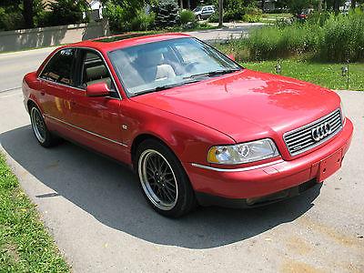 Audi : A8 Berline 2001 audi a 8 quattro red supercar all wheel drive