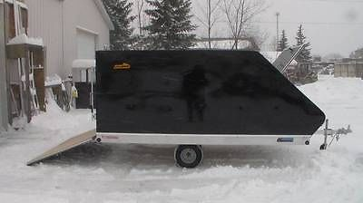 2015 Pro Starr Snowmobile ATV UTV Rear Ramp Trailer with Sled Shed Cap