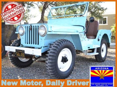 Willys : Other CJ2a Classic Willys Jeep 4x4 Offroad Flatfender Vintage Show Awd Convertible Driver