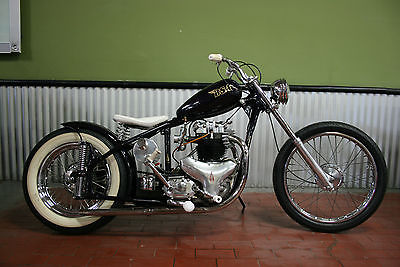 BSA : A10 Golden Flash 1952 bsa a 10 golden flash bobber full custom chopper norton triumph look