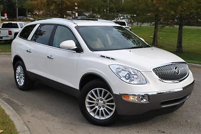 Buick : Enclave FWD 4dr Leather FWD 4dr Leather Low Miles SUV Automatic Gasoline 3.6L V6 Cyl  White Diamond Tric