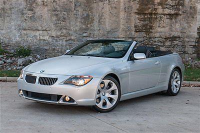 BMW : 6-Series 645Ci CONVERTIBLE, SPORT PKG, NAVIGATION, BLUETOOTH, LOGIC 7 AUDIO, ONLY 35K MILES!