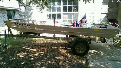 Flat boat, aluminum, freshwater, boat, long, used,