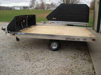 SNOWMOBILE OR ATV 2 PLACE 2002 R&R TILT TRAILER WITH SLUSH GUARD 10' X 101