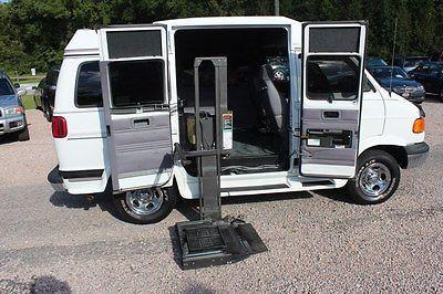 Dodge : Ram 1500 B1500 1998 dodge ram 1500 van 35 k miles braun handicap wheelchair lift 5.2 l v 8 white