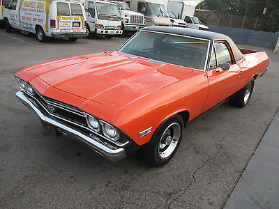 Chevrolet : El Camino SS396, the Real Deal! 1968 chevrolet el camino authentic ss 396 350 hp s matching black plate ca car