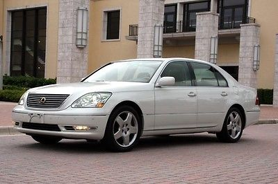 Lexus : LS Base Sedan 4-Door 2005 pearl white lexus ls 430 custom luxury navigation bluetooth almost new tires