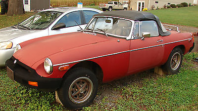 MG : MGB Red 1979 mgb red parts or restoration project car
