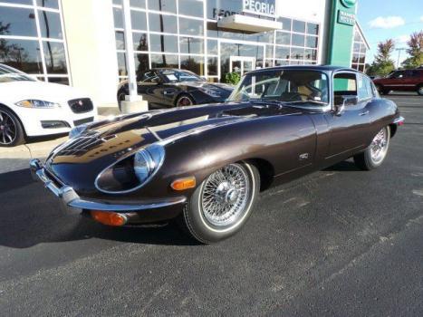 Jaguar : E-Type 1971 xke series ii coupe 4 speed a c wire wheels nice
