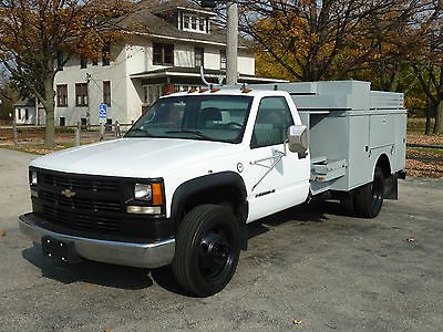 Chevrolet : C/K Pickup 3500 HD Former AT&T Electric - Phone Company Truck 2002 chevrolet 3500 hd at t service utility fleet work splicer truck dually att