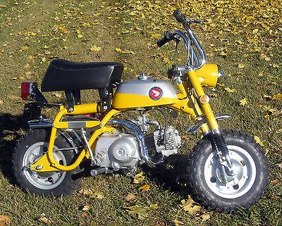 Honda : Other 1969 69 honda z 50 z 50 a mini trail 50 k 1 fully restored yellow early silver tag