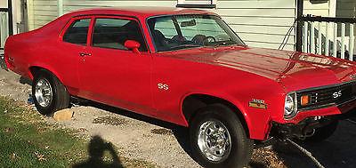 Chevrolet : Nova RED 1973 nova ss matching numbers car rare 350 350 red
