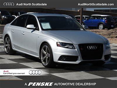 Audi : S4 One Owner, Quattro, Certified Warranty 2012 aud s 4 11 k miles awd heated seats low financing navigation sun roof