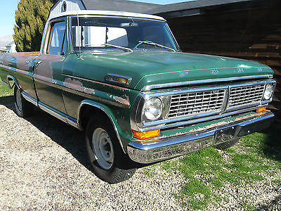 Ford : F-100 STD 1970 ford f 100 390 3 speed 2 wd long bed