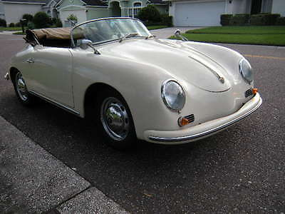 Porsche : 356 356 Speedster Convertible Replica 1957 porsche 356 speedster beautiful re creation detailed pictures and video