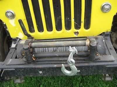 Willys : CJ3B Rubber 1960 willy s jeep cj 3 b new top tires winch snow plow v 8