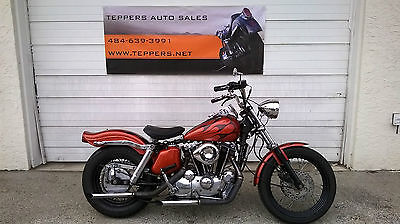 Harley-Davidson : Sportster XLH 1000 Lots of New Parts Fresh Motor Custom Paint Kick Start