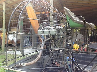 AIRBOAT - 12' Kennedy Hull, Wood prop, 6 cyl Continental E-185 Aircraft Engine