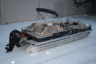 Factory direct pontoon boats-New 22 ft with 90 four stroke Mercury and trailer