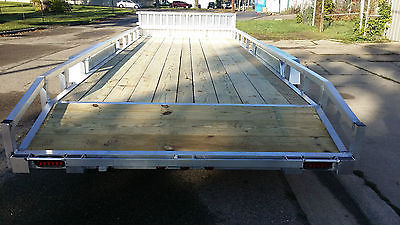 7x18' Aluminum car hauler ATV trailer/Snowmobile/golf cart trailer DOVETAIL!!+++