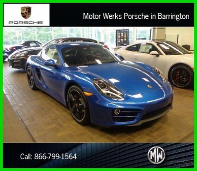 Porsche : Cayman $6K DISCOUNT PDK NAV BOSE PARK ASST PREMIUM XENON 2014 brand new 19 black wheels sapphire blue 14 way power seats sport tailpipes