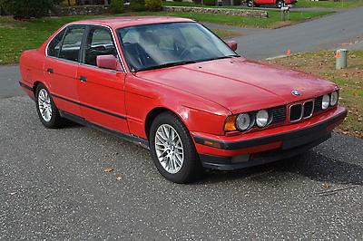 BMW : 5-Series 535I 1989 bmw 535 i 5 sp manual red