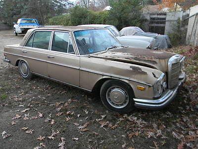 Mercedes-Benz : Other GOLD /BLACK 1970 mercedes benz 280 sel complete for parts or restoration