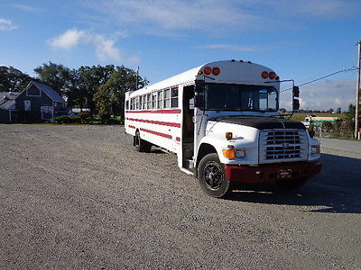 1995 FORD B800 WHITE BUS CONVERTED TO RV TITLED AS RV